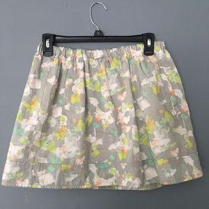 J Crew Printed Mini skirt